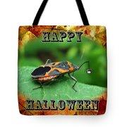 Halloween Greeting Card - Box Elder Bug Tote Bag