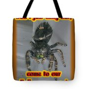 Halloween Party Invitation - Salticid Jumping Spider Tote Bag