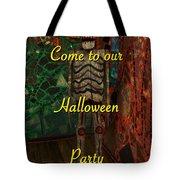 Halloween Party Invitation - Skeleton Tote Bag