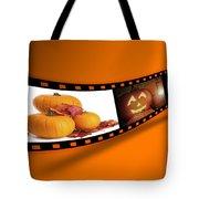 Halloween Pumpkin Film Strip Tote Bag by Amanda Elwell