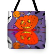 Halloween Reflections Tote Bag