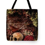 Halloween Still Life Tote Bag by Joan  Minchak