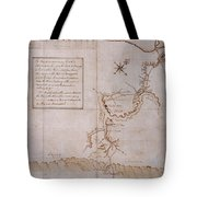 Hand Drawn Map By G. Washington Tote Bag