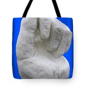Hand In Snow Tote Bag