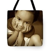 Hands Cupped Tote Bag