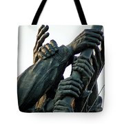 Hands Of Iwo Jima Tote Bag