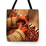 Hands Of The Carpet Weaver Tote Bag