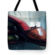 Handsome Shoes With Fresh Eggs In The Middle Plateu Tote Bag