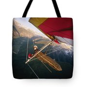 Hang Gliding With Wing-mounted Camera Tote Bag