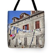 Hanging Out To Dry In Rovinj Tote Bag