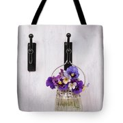Hanging Pansies Tote Bag