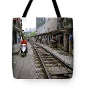 Hanoi Train Tracks Tote Bag