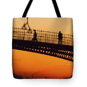 Hapenny Bridge, Dublin, Co Dublin Tote Bag