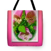 Happy Birthday Card - Foxgloves Tote Bag
