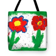 Happy Colorful Flowers Tote Bag