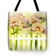 Happy Flower Faces Tote Bag
