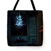 Happy Holiday Lights Tote Bag