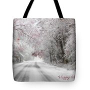 Happy Holidays - Clarks Valley Tote Bag by Lori Deiter