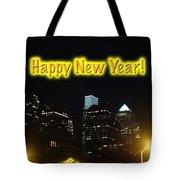 Happy New Year Greeting Card - Philadelphia At Night Tote Bag