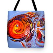 Happy Rainbow Fish Tote Bag