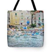 Harbor At Isle Of Capri Tote Bag