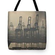Harbor Cranes Tote Bag