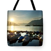 Harbor In Sunrise Tote Bag