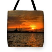 Harbor Sunrise Tote Bag