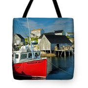 Harbour Mist In Peggy's Cove No 103 Tote Bag