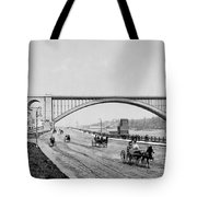 Harlem River Speedway Scene Beneath The George Washington Bridge Tote Bag