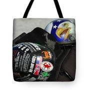 Harley Helmets Tote Bag