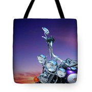 Harley Sunset Tote Bag