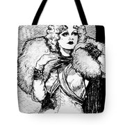 Harlow Black And White Tote Bag