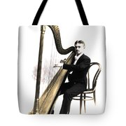 Harp Player Tote Bag