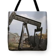 Harvestors Trash Fields While Black Tote Bag