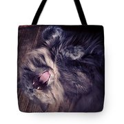 Has #fangs. Not Afraid To Use 'em Tote Bag