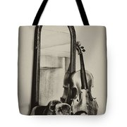 Hat And Fiddle Tote Bag