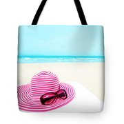 Hat And Sunglasses Tote Bag