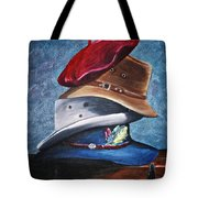 Hat Stack Tote Bag