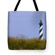 Hatteras Light Over The Dunes Tote Bag