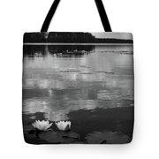 Haukkajarvi Water Lilies In Bw Tote Bag
