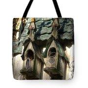 Haunted Birdhouse Tote Bag