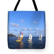 Hawaii Sailboats Tote Bag