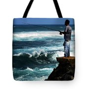 Hawaiian Fisherman Tote Bag