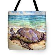 Hawaiian Green Turtle Tote Bag