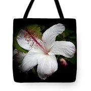 Hawaiian White Hibiscus Tote Bag