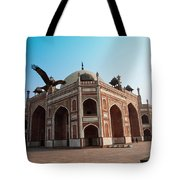 Hawk Flying Next To Humayun Tomb Delhi Tote Bag