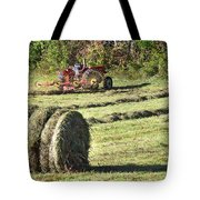 Hay Bale And Tractor Tote Bag