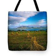 Hay Bales In A Field, Ireland Tote Bag