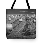 Hay Bales On A Farm In Alberta Tote Bag